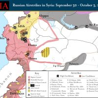 Maps of the Russian Airstrikes to date (10-4)