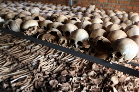 Five thousand people died here.  Most of them clubbed, hacked, stabbed or shot to death.  Their unburied bones are gathered and displayed at memorial centres all across Rwanda.