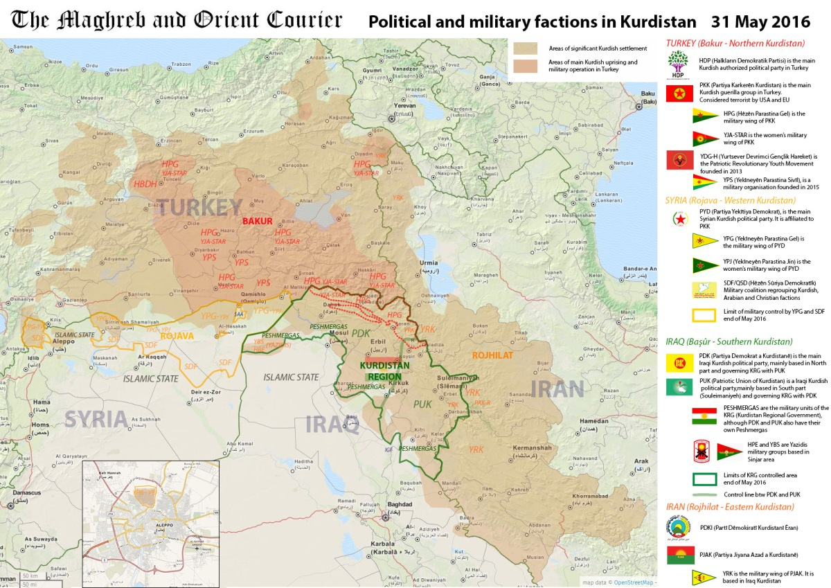 Political and military factions in Kurdistan | MAP