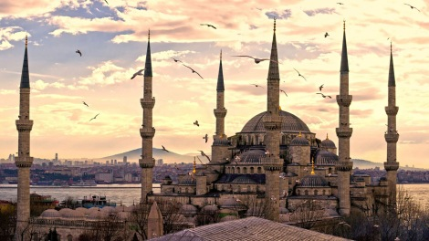 City of istanbul Turkey mosque wallpaper