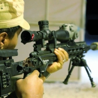 US Remington XM2010 sniper rifle in Syria