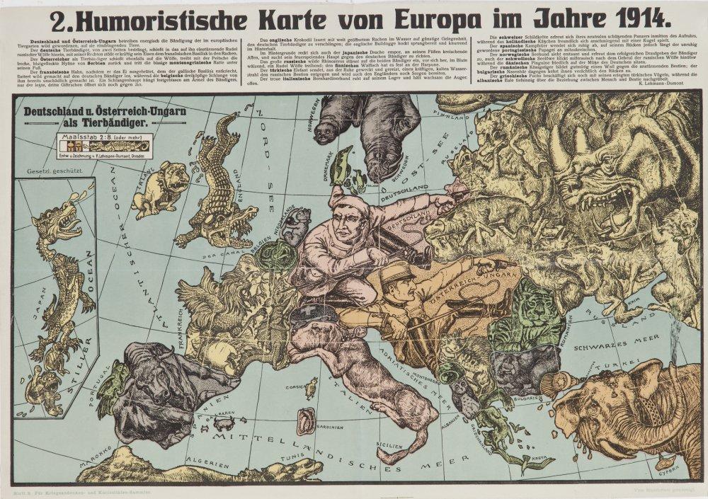 Karte Deutsches Reich 1914.22832 Lehmann Dumont 2 Humoristische Karte Von Europa Im