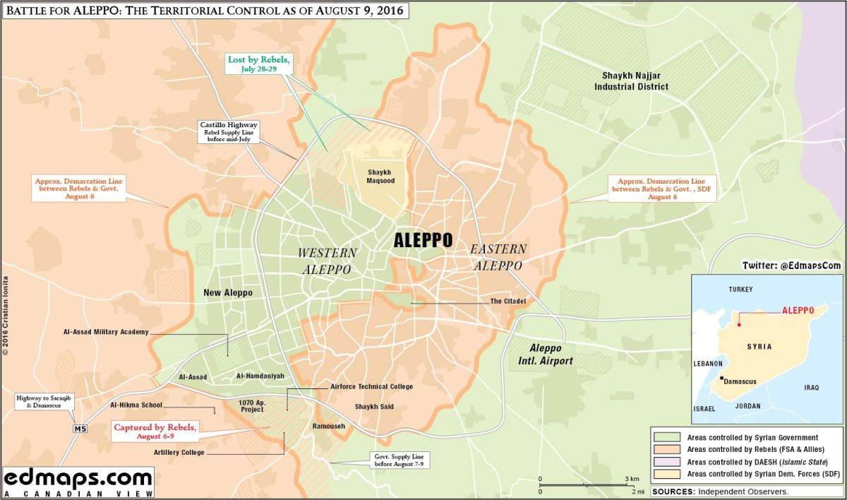 The military situation at Aleppo. 10.08.2016 | Colonel Cassad