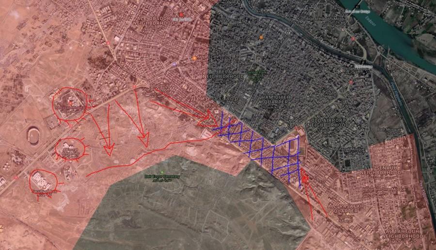 Of Battle For Deir Ezzor On September 27 2017 Maps Latest Battle