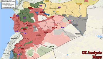 Full Map Of Syrian Conflict AMN The Fourth Revolutionary War - Full map of us